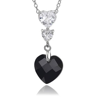 Journee Collection Sterling Silver Cubic Zirconia Heart Shape Pendant