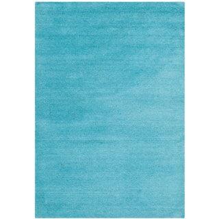 Safavieh Handmade Himalaya Solid Turquoise Blue Wool Rug (2'3 x 4')