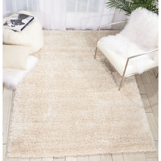 Rug Squared Monticello Bone Solid Shag Rug (5'3 x 7'3)