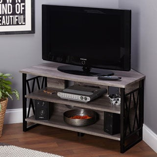 simple living seneca corner tv stand - Tall Corner Tv Stand