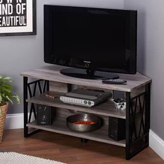 Corner TV Stands Living Room Furniture For Less   Overstock.com