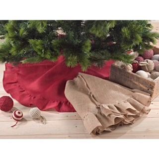 Jute Christmas Tree Skirt (Option: Red)