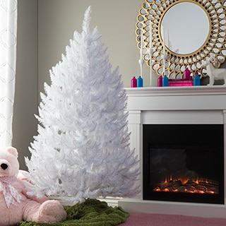 5.5' Sparkle White Artificial Spruce Christmas Tree