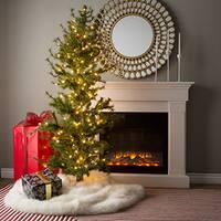 6' Minnesota Dura-Lit Half Christmas Tree with 200 Clear Lights