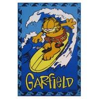 Garfield Blue Nylong Area Area Rug