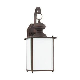 Sea Gull Jamestowne 1-light Antique Bronze Outdoor Wall Lantern