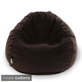 Majestic Home Goods Micro-velvet Small Classic Bean Bag