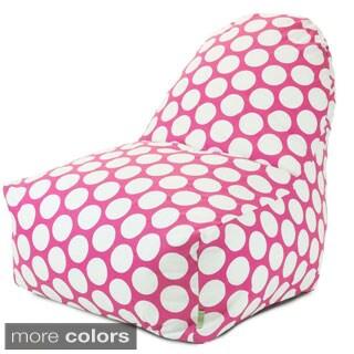 Majestic Home Goods Large Polka Dot Kick-It Chair