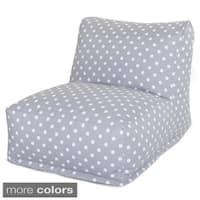 Majestic Home Goods Ikat Dot Bean Bag Lounger Chair