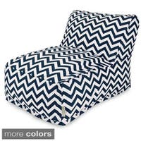 Majestic Home Goods Chevron Bean Bag Lounger Chair