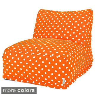 Majestic Home Goods Small Polka Dot Bean Bag Lounger Chair