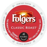 Folgers Gourmet Selections Classic Roast Coffee, K-Cup Portion Pack for Keurig Brewers