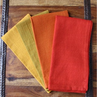 Set of 4 Gather Handmade Multicolored Cotton Napkins (India)