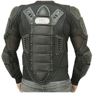 Perrini Full Body Armor CE Approved All Black Motorcycle Jacket