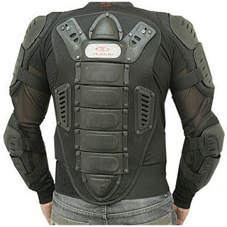 Perrini Full Body Armor CE Approved All Black Motorcycle Jacket (4 options available)