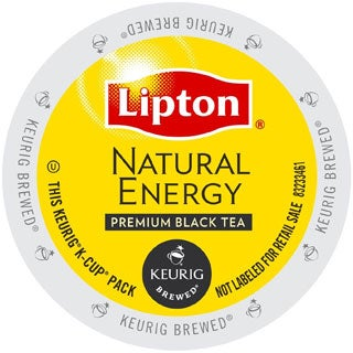 Lipton Natural Energy Tea, K-Cup Portion Pack for Keurig Brewers