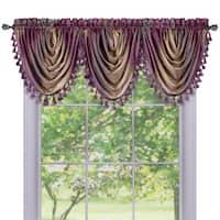 Achim Ombre Multicolored Waterfall Valance Window Curtain