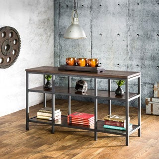 Furniture of America Payton Industrial Tiered Sofa Table