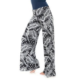 White Mark Women's Bandana Print Palazzo Pants