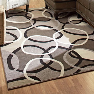Da Vinci Collection Overlap Multi Olefin Area Rug
