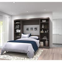 Pur by Bestar Full Wall Bed with Two Storage Units