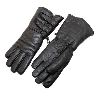 Black Leather Winter Motorcylce Riding Gloves (5 options available)