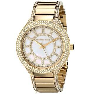 Michael Kors Women's Kerry Yellow Goldtone Crystal Watch - GOLD