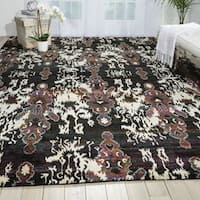 Nourison Sari Silk Multicolor Traditional Rug (8'6 x 11'6) - 8'6 x 11'6
