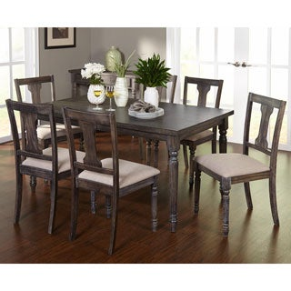 Simple Living 7-piece Burntwood Dining Set