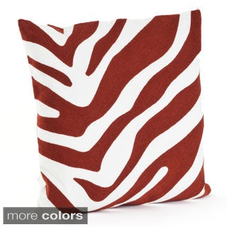 Zebra Design 17-inch Down Filled Throw Pillow
