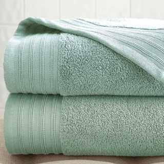 Amrapur Overseas Quick Dry Combed Cotton Oversized Bath Sheet (Set of 2)