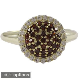 Luxiro Sterling Silver Cubic Zirconia Gemstone Ring with Colored Stones Pave Halo