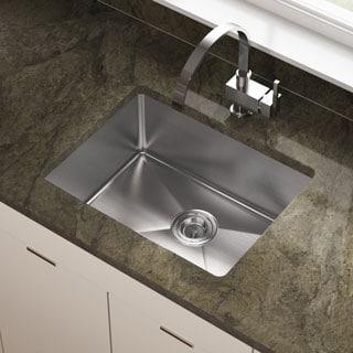 "MR Direct 1823 Stainless Steel Single Bowl 3/4"" Radius Stainless Steel Kitchen Sink"