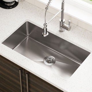 "MR Direct 3120S Single Bowl 3/4"" Radius Stainless Steel Kitchen Sink"