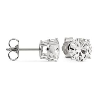 Charles & Colvard 14k White Gold Moissanite Forever Brilliant Stud Earrings