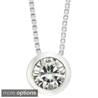 Charles and Colvard 14k Gold 1/2ct Round Forever Brilliant Moissanite Solitaire Pendant