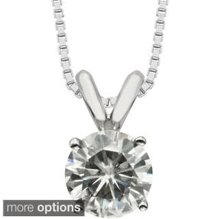 Charles & Colvard 14k Gold 1.00 TGW Round Forever Brilliant Moissanite Solitaire Pendant|https://ak1.ostkcdn.com/images/products/P16814664a.jpg?impolicy=medium
