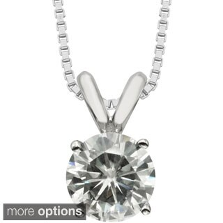 Moissanite by Charles & Colvard 14k Gold 1.00 TGW Round Solitaire Pendant