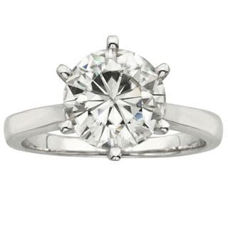 Charles and Colvard 14k Gold 3 1/ 10ct TGW Round Forever Brilliant Moissanite Solitaire Ring|https://ak1.ostkcdn.com/images/products/P16814690a.jpg?impolicy=medium