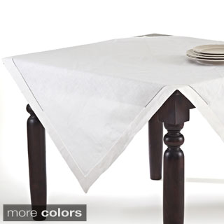 Hemstitched Linen Blend Tablecloth
