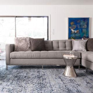 Hastings Light Blue/ Grey Rug (3'10 x 5'7)