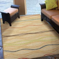 Clay Alder Home Meridian Indoor/Outdoor Beige Area Rug - 5'2 x 7'6