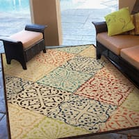 Carolina Weavers Indoor/Outdoor Santa Barbara Collection Witner Street Multi Area Rug (7'8 x 10'10) - 7'8 x 10'10