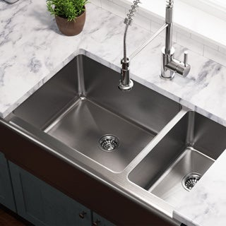 MR Direct 407 Offset Stainless Steel Apron Sink