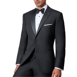 Ike Behar Ike Evening Men's Black Super 120s Wool Two-button Notch Tuxedo