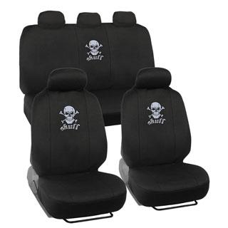 BDK Skull Head Design Car Seat Covers Full set (Universal Fit)