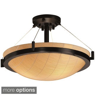 Justice Design 3Form Ring 3-light Round Semi-flush Mount