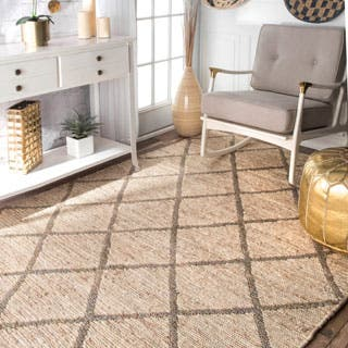 nuLOOM Handmade Trellis Natural Fiber Jute Grey Rug (9' x 12')|https://ak1.ostkcdn.com/images/products/P16824901a.jpg?impolicy=medium