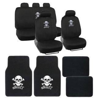 BDK Full Set Skull Car Seat Covers and Floor Mats