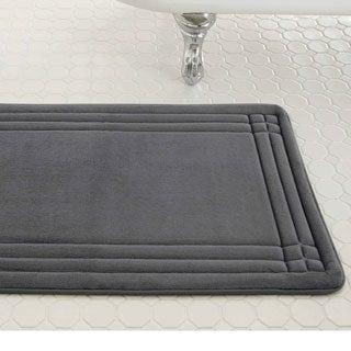 Captivating Amrapur Overseas Embossed Memory Foam Geoplex Bath Mat